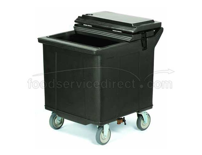 Black Cateraide 125 Pound Ice Caddy with Nylex Latches 4 Swivel Casters One with Brake -- 1 each