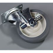 Carlisle Gray Swivel Caster with Brake Only, 5 inch -- 1 each.