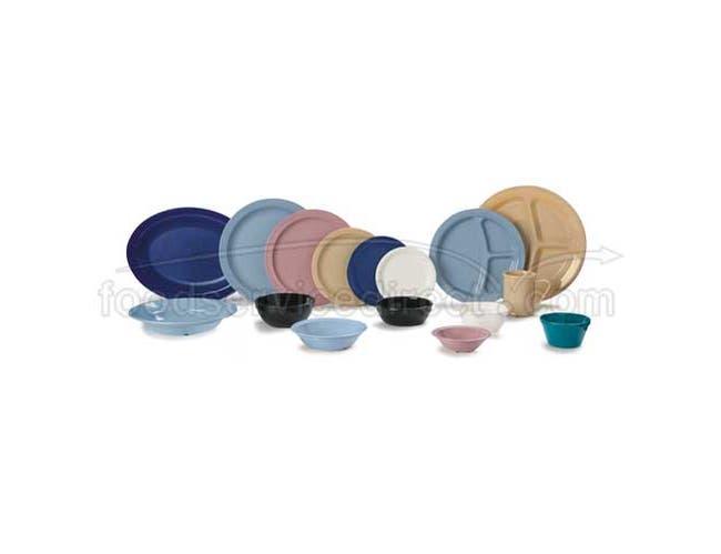 Dark Blue Super-Tough Polycarbonate Narrow Rim Plate 9 inch -- 1 each
