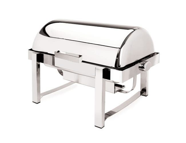 Eastern Tabletop P2 Collection Stainless Steel Rectangular Rolltop Chafer, 8 Quart -- 1 each.