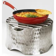 Eastern Tabletop Revo Collection Stainless Steel Round Stand with Aluminum and Grate Top, 15 x 15 x 9 inch -- 1 each.