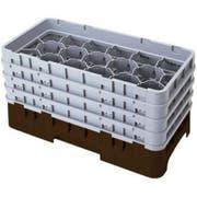 Camrack Half Size 17 Compartment Glass Rack, Cranberry, 19 3/4 x 10 x 12 1/8 inch -- 2 per case.