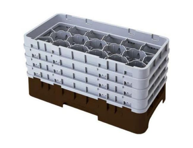 Camrack Half Size 17 Compartment Glass Rack, Sherwood Green, 19 3/4 x 10 x 10 1/2 inch -- 2 per case.