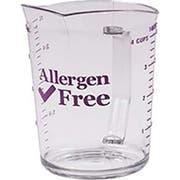 Cambro Camwear Polycarbonate Allergen‑Free Purple Measuring Cup, 2 Quart -- 12 per case.
