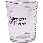 Cambro Camwear Polycarbonate Allergen‑Free Purple Measuring Cup, 4 Quart -- 1 each.