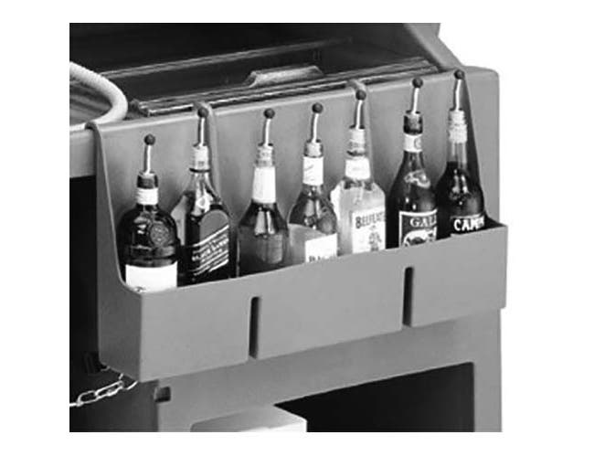Cambro Granite Gray 7 Bottle Speed Rail for Large Portable Beverage Bar CamBar -- 1 each.