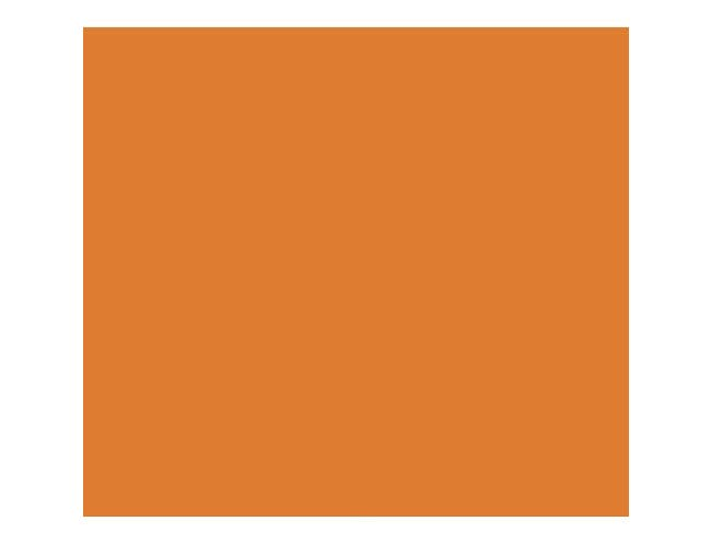 Cambro Orange Pizazz Rectangular Low Profile Rim Camtray, 8 x 9 7/8 inch -- 12 per case.