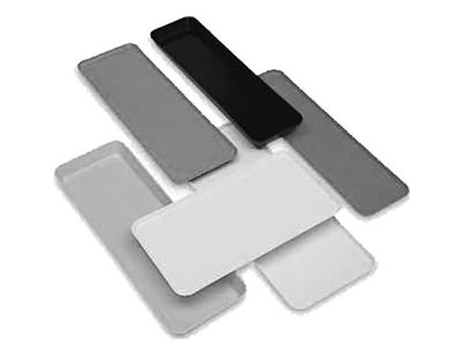 Cambro Fiberglass White Market Pan, 25 1/2 x 8 3/8 x 2 inch -- 12 per case.