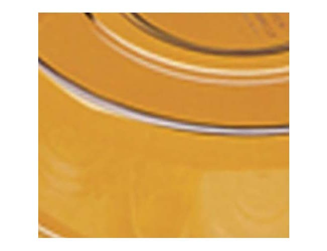 Cambro Amber Camwear Camcover Plate Cover Only, 9 5/16 inch Inside Diameter -- 12 per case.