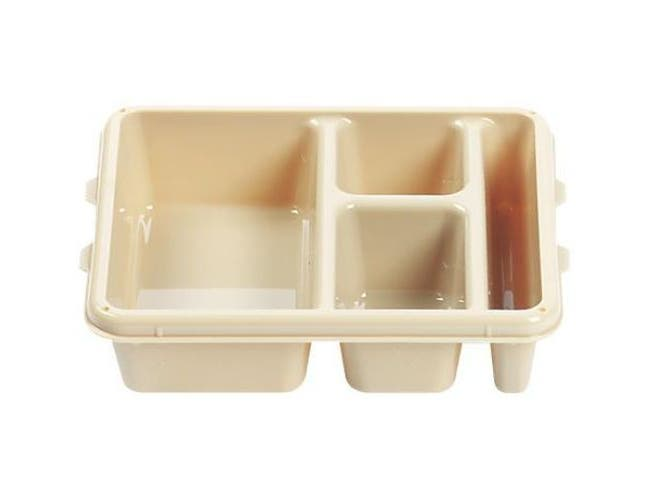 Camwear Polycarbonate 4 Compartment Meal Delivery Tray, Teal, 9 x 11 x 2 1/2 inch -- 24 per case.