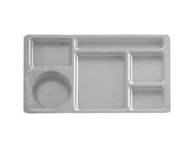 Cambro Teal Camwear Polycarbonate 2 x 2 Compartment School Tray, 15 x 8 3/4 inch -- 24 per case.