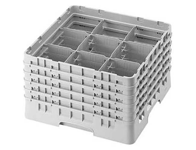 Cambro Camrack Polypropylene Teal Full Size 9 Compartment Glass Rack, 10 1/8 inch -- 2 per case.