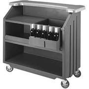 Cambro Granite Gray with Slate Gray Designer Style Economy Small Portable Beverage Bar CamBar, 54 x 25 7/8 x 46 1/8 inch -- 1 each.