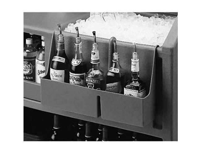 Cambro Dark Brown 5 Bottle Speed Rail for Small Portable Beverage Bar CamBar -- 1 each.