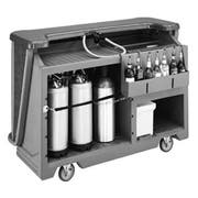 Cambro Granite Gray with Black Base Standard Style Complete Medium Portable Beverage Bar CamBar, 67 1/2 x 28 1/2 x 47 1/2 inch -- 1 each.