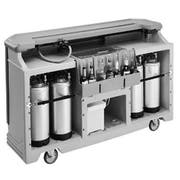 Cambro Two Tone Brown Mahogany Standard Style Complete Large Portable Beverage Bar CamBar, 72 3/4 x 26 x 48 inch -- 1 each.