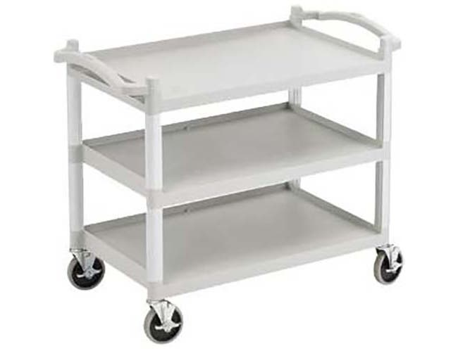 Cambro Speckled Gray Low Profile KD Utility Bus Cart, 40 x 22 x 33 1/4 inch -- 1 each.