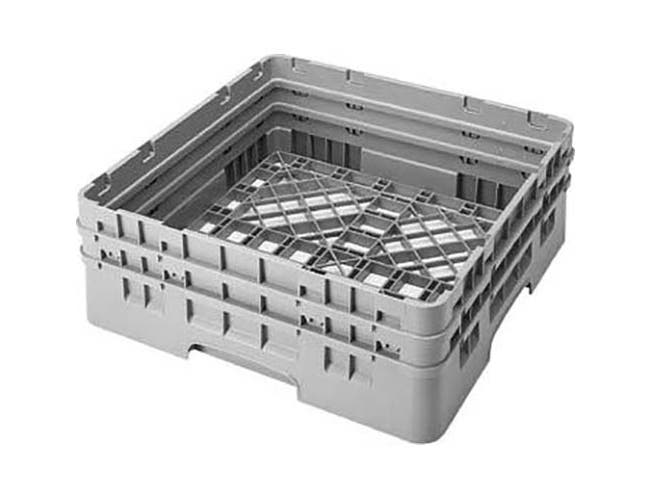Cambro Camrack Polypropylene Teal Full Size with 2 Extender Base Rack, 19 3/4 x 19 3/4 x 7 1/4 inch -- 4 per case.