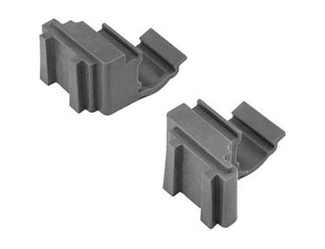 Cambro Brushed Graphite 1 Set Corner Connector for Basics Plus 1 Shelf -- 1 set.