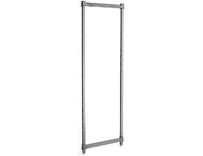 Cambro Brushed Graphite Basics Plus Stationary Post Kit, 24 x 64 inch -- 1 each.