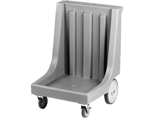 Cambro Black Standard Model Camdolly with Handle and Rear Big Wheels for Dish Racks, 26 x 36 5/8 x 26 7/8 inch -- 1 each.