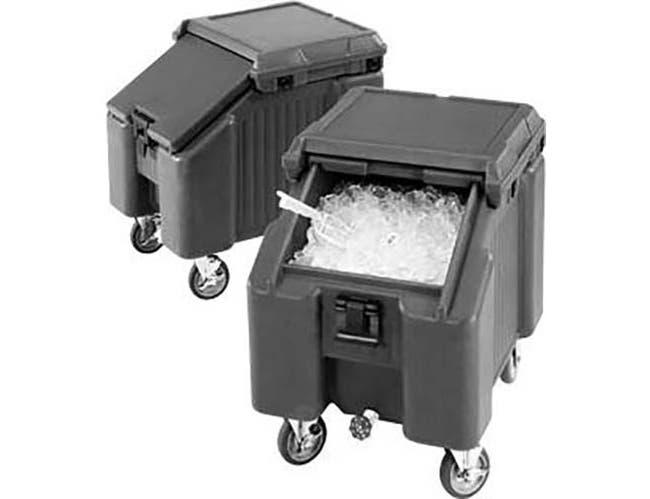 Cambro Coffee Beige Standard Height Sliding Lid Ice Caddy, 22 1/2 x 28 3/4 x 30 1/4 inch -- 1 each.