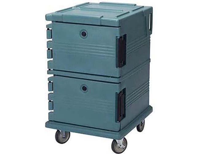 Cambro Navy Blue Base Model Ultra Camcarts for Food Pans, 28 1/2 x 45 1/2 x 32 1/4 inch -- 1 each.
