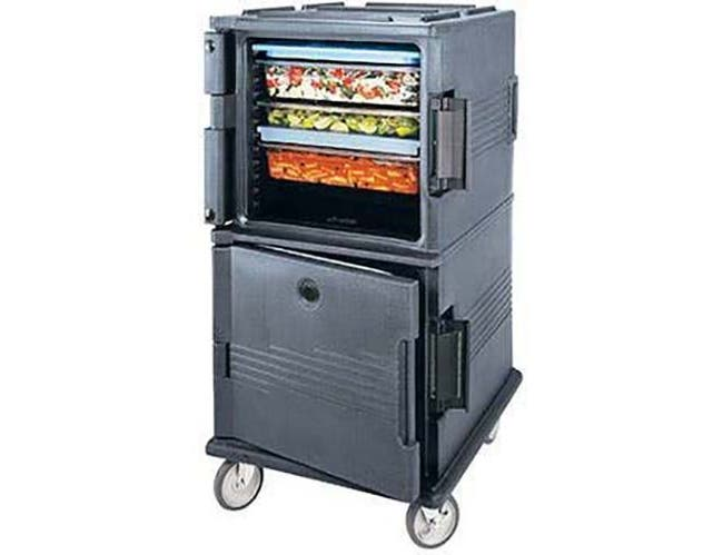 Cambro Base Model Dark Brown Ultra Camcart with Heavy Duty Casters for Food Pan, 28 1/8 x 53 1/4 x 32 1/4 inch -- 1 each.