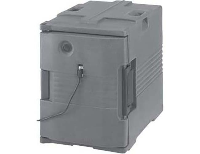 Cambro Slate Blue 110 Voltage Heated Pan Carrier Insulated Food Server, 18 1/8 x 24 7/9 x 26 3/8 inch -- 1 each.