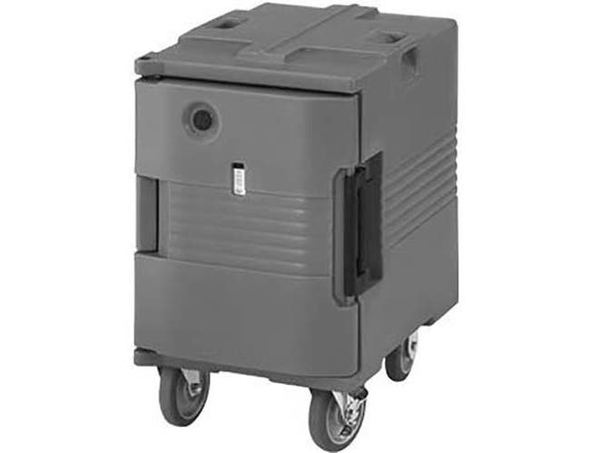 Cambro 110 Voltage Granite Gray 1 Compartment Insulated Ultra Pan Carrier with Casters, 18 1/8 x 31 1/4 x 26 3/8 inch -- 1 each.