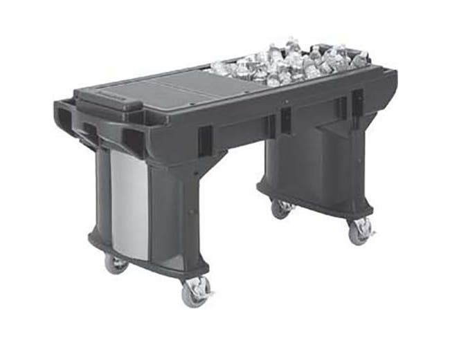 Cambro Hot Red Versa Work Table with Low Height and Heavy Duty Casters, 6 Feet -- 1 each.