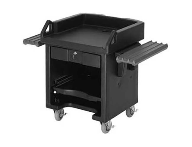 Cambro Hot Red Versa Cart with Dual Tray Rails and Heavy Duty Casters, 52 3/4 x 32 1/4 x 43 inch -- 1 each.