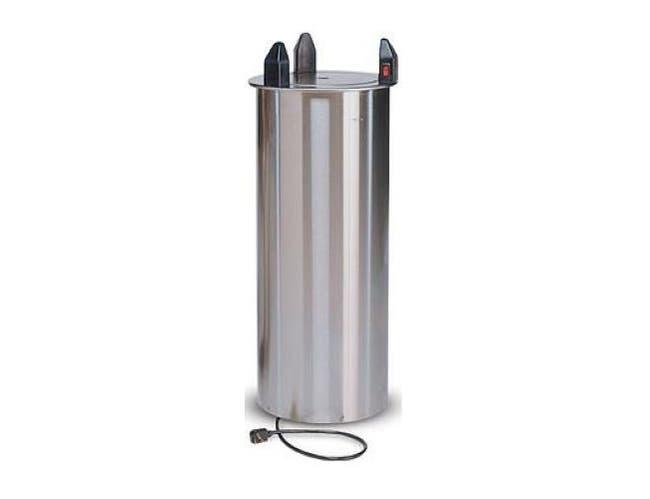 Dinex Drop-In Shield Heated Plate Dispenser, 28 x 12 3/8 x 11 9/16 inch -- 1 each.
