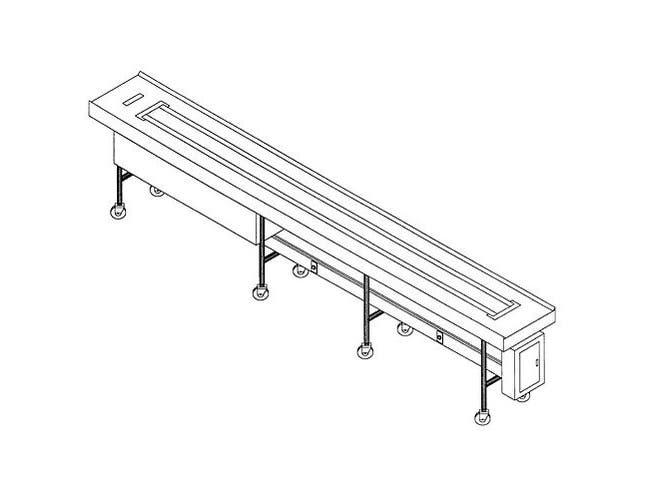 Dinex Band Belt Conveyor - 10 Foot Section -- 1 each.