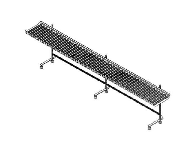 Dinex PVC Roller Cantilever Conveyor - 4 Foot Section -- 1 each.