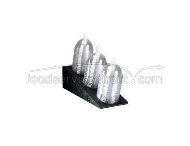 Dispense Rite Black Polystyrene Angled Dome Lid Dispenser, 11 3/4 x 5 1/2 x 14 1/2 inch -- 2 per case.