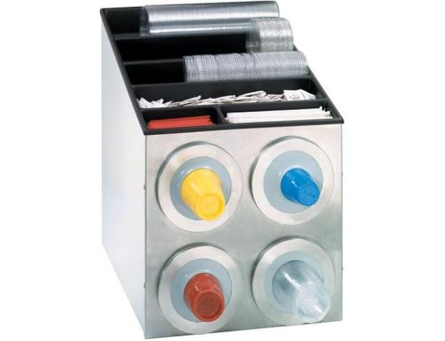 Dispense Rite BFL-L Series Stainless Steel Countertop One Size Fits All Combination Dispensing Cabinet, 22 1/2 x 16 1/2 x 22 3/4 inch -- 1 each.