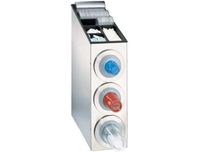 Dispense Rite BFL-L Series Stainless Steel Countertop One Size Fits All Combination Dispensing Cabinet, 29 3/8 x 8 3/8 x 23 1/2 inch -- 1 each.