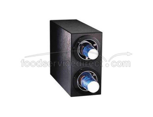 Dispense Rite CTC-S Black Polystyrene Countertop Cup Dispensing Cabinet, 16 x 8 x 23 inch -- 1 each.