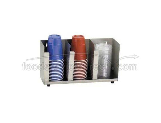 Dispense Rite CTLD Stainless Countertop Cup and Lid Organizer, 8 15 1/2 x 5 inch -- 1 each.
