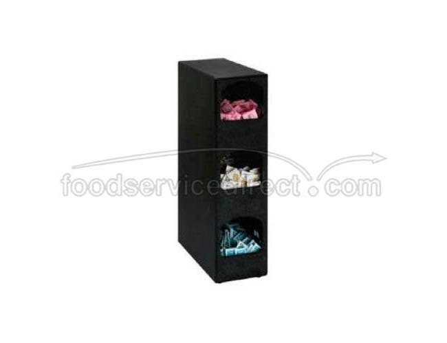 Dispense Rite HVCD Black Polystyrene Countertop Condiment Organizer, 24 x 6 1/2 x 14 inch -- 1 each.