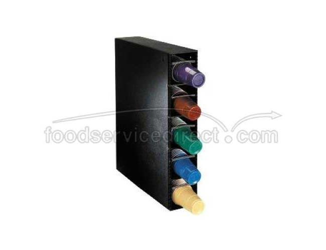 Dispense Rite PL-CT Black Polystyrene Cup Dispensing Cabinet, 26 3/4 x 5 1/2 x 20 1/4 inch -- 1 each.