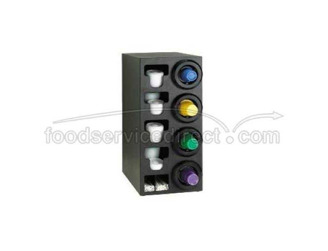 Dispense Rite STL Black Polystyrene Combination Cup Dispensing Cabinet, 32 1/4 x 14 1/2 x 23 inch -- 1 each.