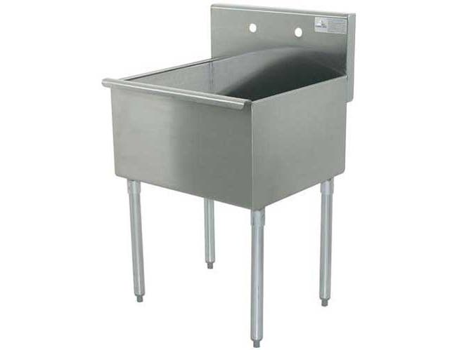 400 Series Stainless Steel Square Corner Scullery Budget Sink with 1 Compartment. 18X18 18 inchO.A -- 1 each.