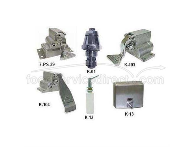 Foot Pedal Assembly With Floor Bracket -- 1 each.