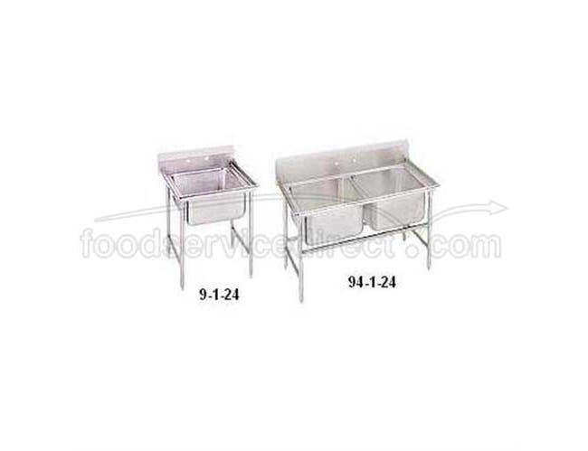 Super Saver 900 Series Stainless Steel Regaline Sink, with 1 Compartment, No Drain Board.Overall Length 25 inch -- 1 each.