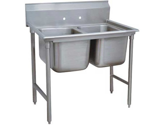 Standard 930 Series Stainless Steel Regaline Sink, with 2 Compartment, No Drain Board.Overall Length 44 inch -- 1 each.