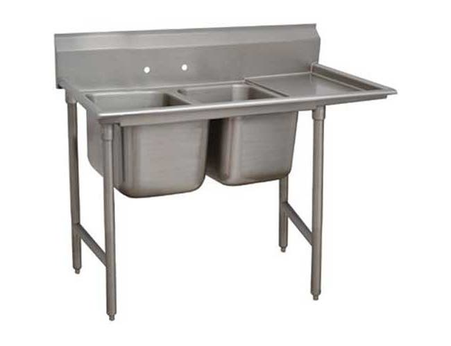 Standard 930 Series Stainless Steel Regaline Sink with 2 Compartment, Right Drain Board.Overall Length 58 inch -- 1 each.