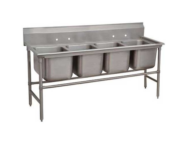 Spec-line 940 Series Stainless Steel Regaline Sink with 4 Compartment, No Drain Board.Overall Length 97 inch -- 1 each.