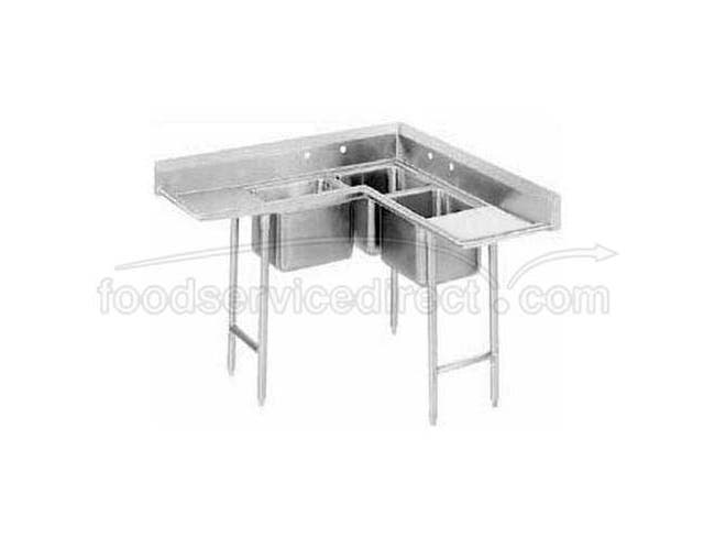 Stainless Steel Regaline Korner Sink with 3 Compartment.Foot Print Size 54x54 inch -- 1 each.